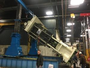 500 ton gantry and tri-lifter installing a 1500ton press