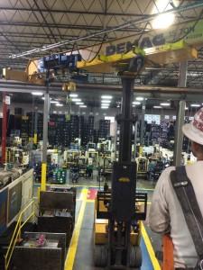 Overhead crane installation using our  custom rotators